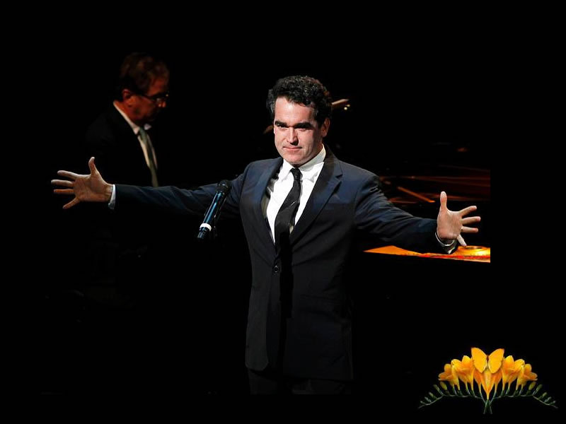 Brian D'Arcy James sang 'At the Fountain' during the touching tribute.