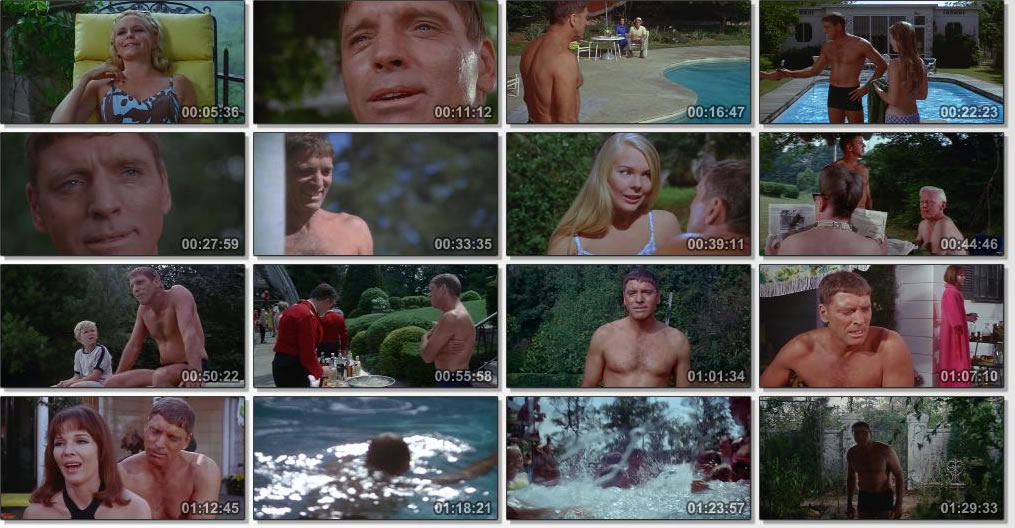 Scenes from film The Swimmer